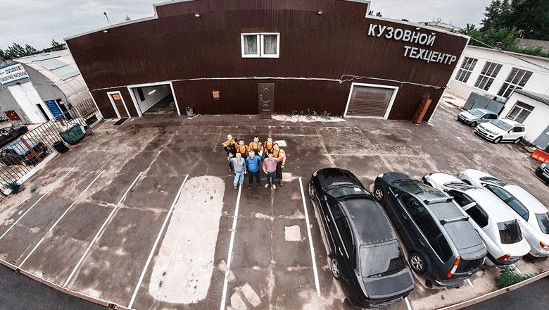 Размеченная парковка – хороший тон для любого автосервиса